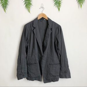 Eileen Fisher Jackets & Coats - Eileen Fisher • Gray Linen Blend Shaped Blazer
